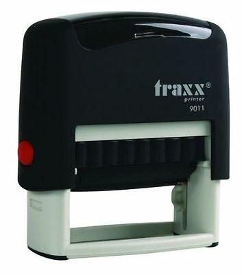 Traxx 9011 Custom Signature-Name-Name and Cell No Self Inking Rubber Stamp
