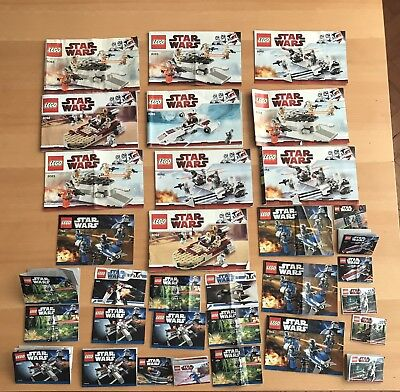 33 Star Wars Lego instructions ONLY Books / Manuals - job lot