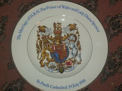 Prince Charles & Lady Diana Wedding Collector Plate ,, Wood & Sons England
