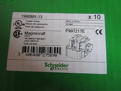 Box of 10 x Schneider DPDT Chassis Mount Non-Latching Relay 40A 24Vdc 8245838