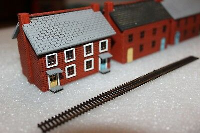 N scale House - 2 storey, 2 unit Row house, MDF & ply kit.