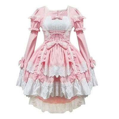 Pink costumes maid clothes anime clothing cosplay J4T3 M3B7