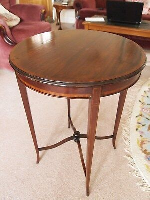 Edwardian Occasional Table, wood, inlaid