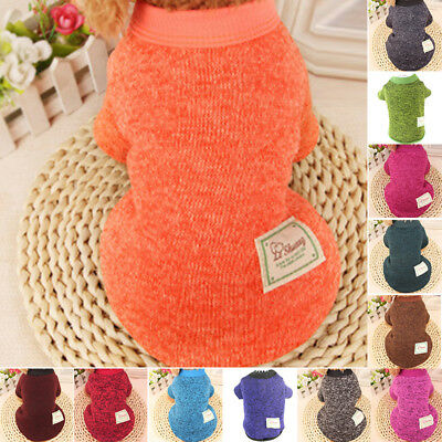 Small Large Dog Clothes Sweater Winter Warm Puppy Pet Cat Coat Apparel Clothing