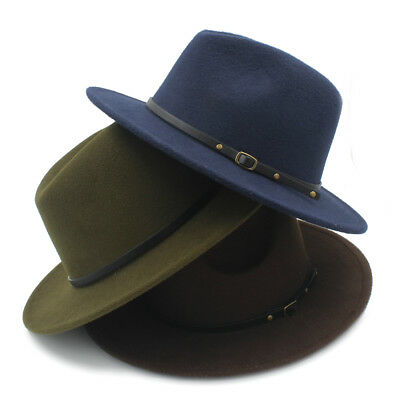 2b7ccfa1c7e Retro Gentleman panama fedora hat mens Jazz billycock cap outdoor.