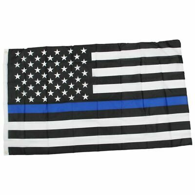 Thin Blue / Red Line American Police Flag Respect and Honor Banner 3x5 Foot F9O8