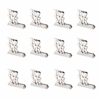 1 Pack 12 pieces LOVE Place Card Holders Wedding Favor C3M7 Q7N9
