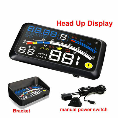 4 in 1 Universal OBD2 Car GPS HUD Head Up Display Overspeed KM/h Warning System