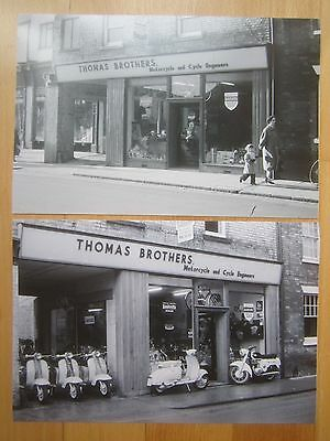 Lambretta dealer photos 1960 - two prints from original negatives, 23 x 15cm