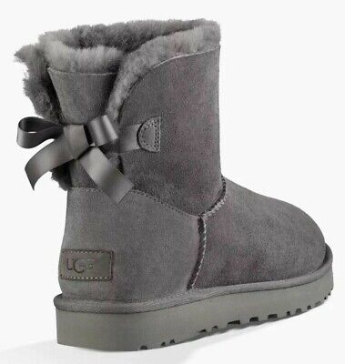 outlet 52187 e7841 ORIGINALI UGG NEW Mini Bailey Bow Ii Grigio Con Fiocco Grey Water Resistant