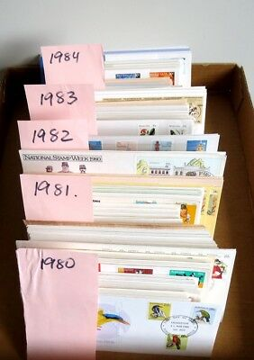 Bulk Lot Australia FDC's 500+ First Day Covers Stamps Envelopes 1980 -1984