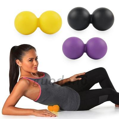 Double Peanut Massage Lacrosse Balls Extra Firm Roller For Spine Lower Back Neck
