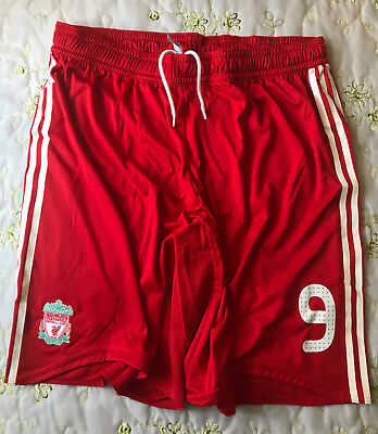 Liverpool Torres #9 Match Un Worn Player Issue Champions League Shorts 2009