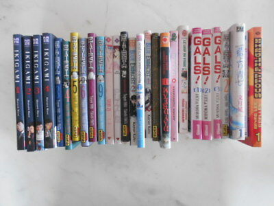 Lot De 27 Mangas Divers Ikigami Blue Exorcist Death Note Glas Etc... Bon Etat