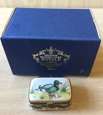 Limoges Trinket Box - Ancienne Manufacture Royale - In Box