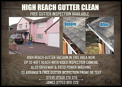 Gutter cleaning / power washing  business card