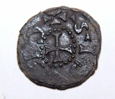 CRUSADERS, Latin Kingdom of Jerusalem. Anonymous. 12th century Bronze Coin