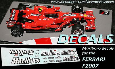 Formula F1 Car Collection water slide DECALS - Marlboro Ferrari F2007 Raikkonen