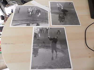 3 x Fleet Street 1968 Golf Press Photos Bob Charles Royal Birkdale Alcan open.