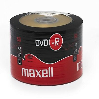Maxell DVD-R 50 PacK Blank Discs Recordable DVD 16x 4.7GB 120mins UK Seller