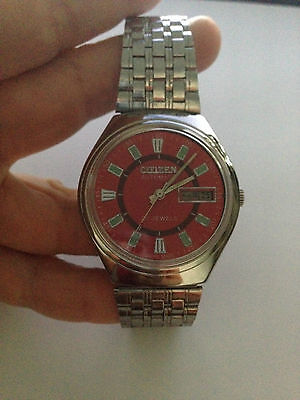 Unisex Excellent Citizen Automatic Watch, Trendy Red Red Face