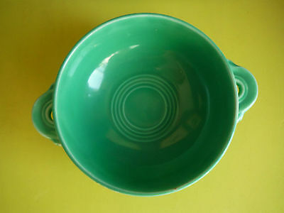 Homer Laughlin / FIESTA / Vintage Cream Soup Bowl / Light Green