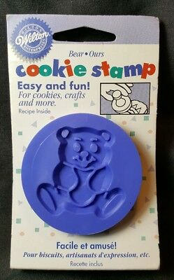 Wilton 1998 Bear Cookie Stamp ~ For Cookies Crafts & More