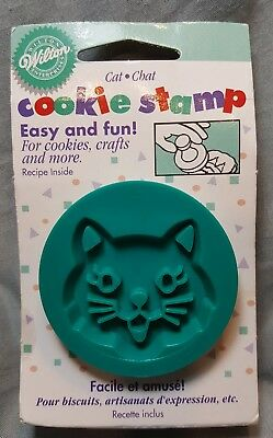 Wilton 1997 Cat Cookie Stamp ~ For Cookies Crafts & More