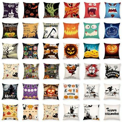 Home Throw Pillow Decor Halloween Cushion Cover Sofa Square Bed Case Car Party