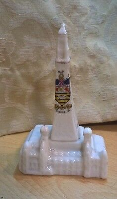 Vintage Crested Ware Blackpool Tower 'Progress' Blackpool - Possibly German