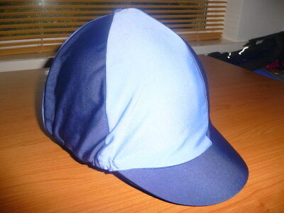 Shires Two Tone Blue Horse Riding Hat Helmet Cover