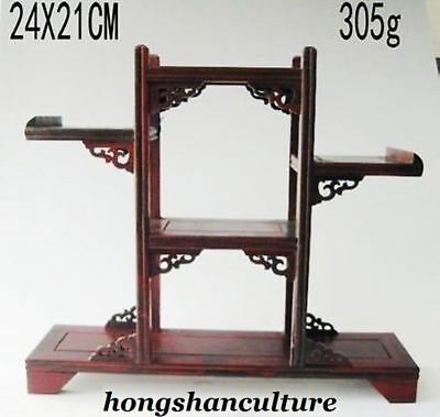 Chinese Suanzhi Wood Carved Put Small Curio Stand/shelf Or Display Nr