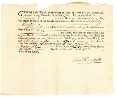 Colonial Virginia 1763 King George III sheriff's sale Lanty Armstrong doc't