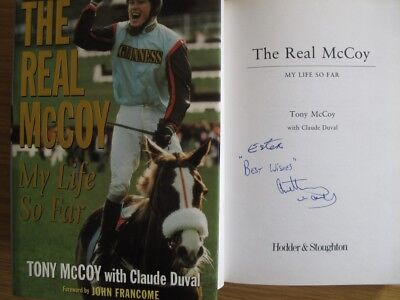 'THE REAL McCOY - MY LIFE SO FAR' - AUTOBIOGRAPHY  TONY McCOY - SIGNED 1ST EDIT.