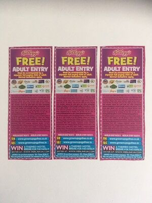 3x tickets to Alton Towers, Thorpe Park, Legoland, Madame Toussands and more