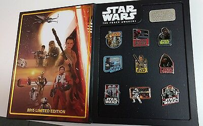 Disney Star Wars The Force Awakens 10 Pin Completer Set Limited Edition LE 2000