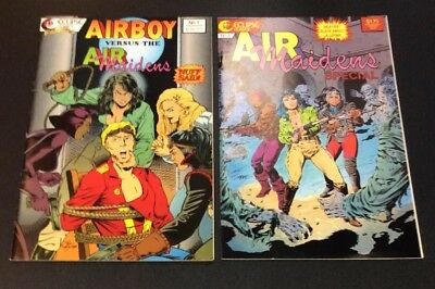 Airboy #1 Air Maidens Special 1 Eclipse Golden age Heroines Valkyrie Black Angel