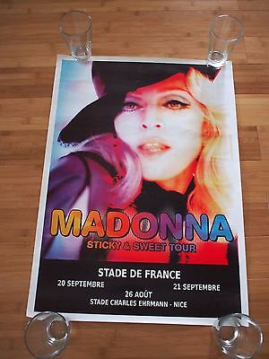 MADONNA Concert Double Side Poster STICKY & SWEET TOUR 2008 FRANCE 28X20