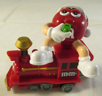Red M&M's Mars Candy 2005 Train Red Engine Ornament Christmas Holiday