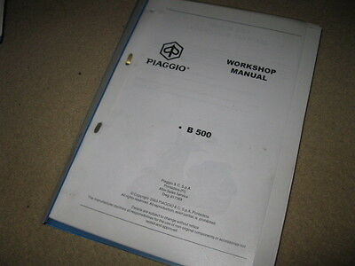 Piaggio MSS B500 Motor Scooter Service Station Workshop Manual 2003