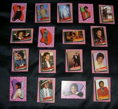 SET OF VINTAGE MICHAEL JACKSON CARDS.RARE COLLECTABLE LOT.G39.JACKSONS.1980's