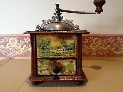 Molino de Cafe frances firma Japy Freres & Cie. Brevete. Antique coffee grinder