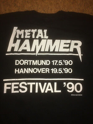 Metal Hammer Event Shirt 1990 Metallica Size L, Mint  Very Rare!!! Screen Stars