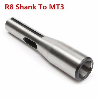 NEW R8 Shank To MT3 R8 Adapter Sleeve CNC Tool Drill Chuck Arbor Morse Taper