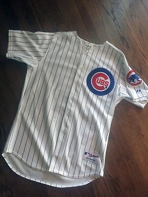 Michael Barrett Game Used Cubs Jersey