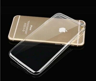 For iPhone 6S 7 8 Plus Soft Silicone TPU Ultra Slim Clear Transparent Cover Case