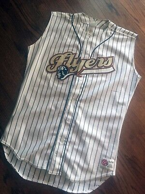 Brant Brown (Cubs, Schaumburg Flyers) Autographed Game Used Jersey