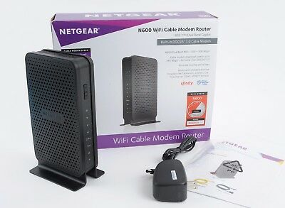NETGEAR N600 Dual-Band WiFi Cable Modem Router (Model C3700) + TP Link Extender