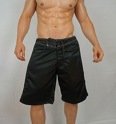 Mens Vintage Satin Nylon Board Shorts Size 32