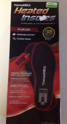 ThermaCELL ProFLEX Rechargeable Heated Insoles HW20-L Large Black (1560124P)